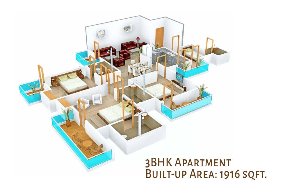 3BHK Apartment in Dharuhera