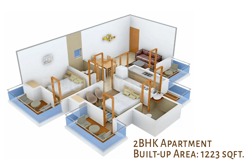 2BHK Apartment in Dharuhera